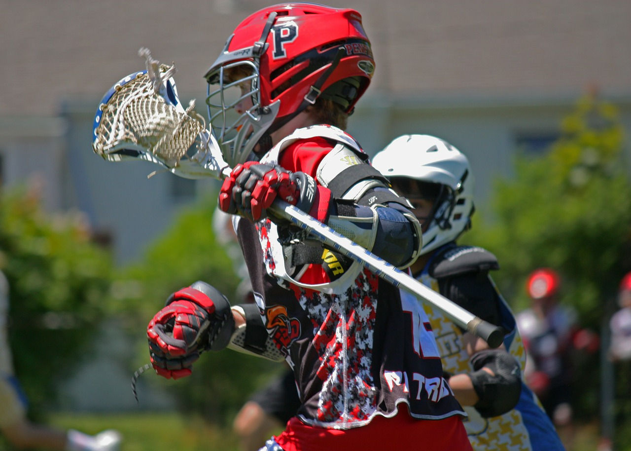 lacrosse player team sport free picture