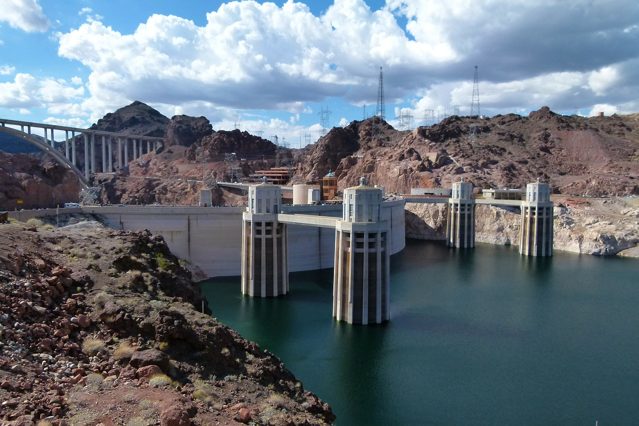 lake mead hoover dam free photo