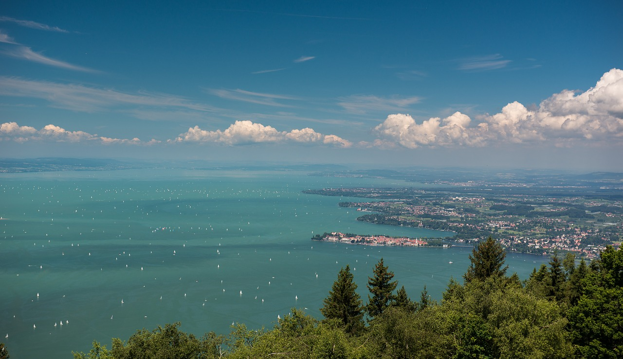 lake constance lindau view free photo