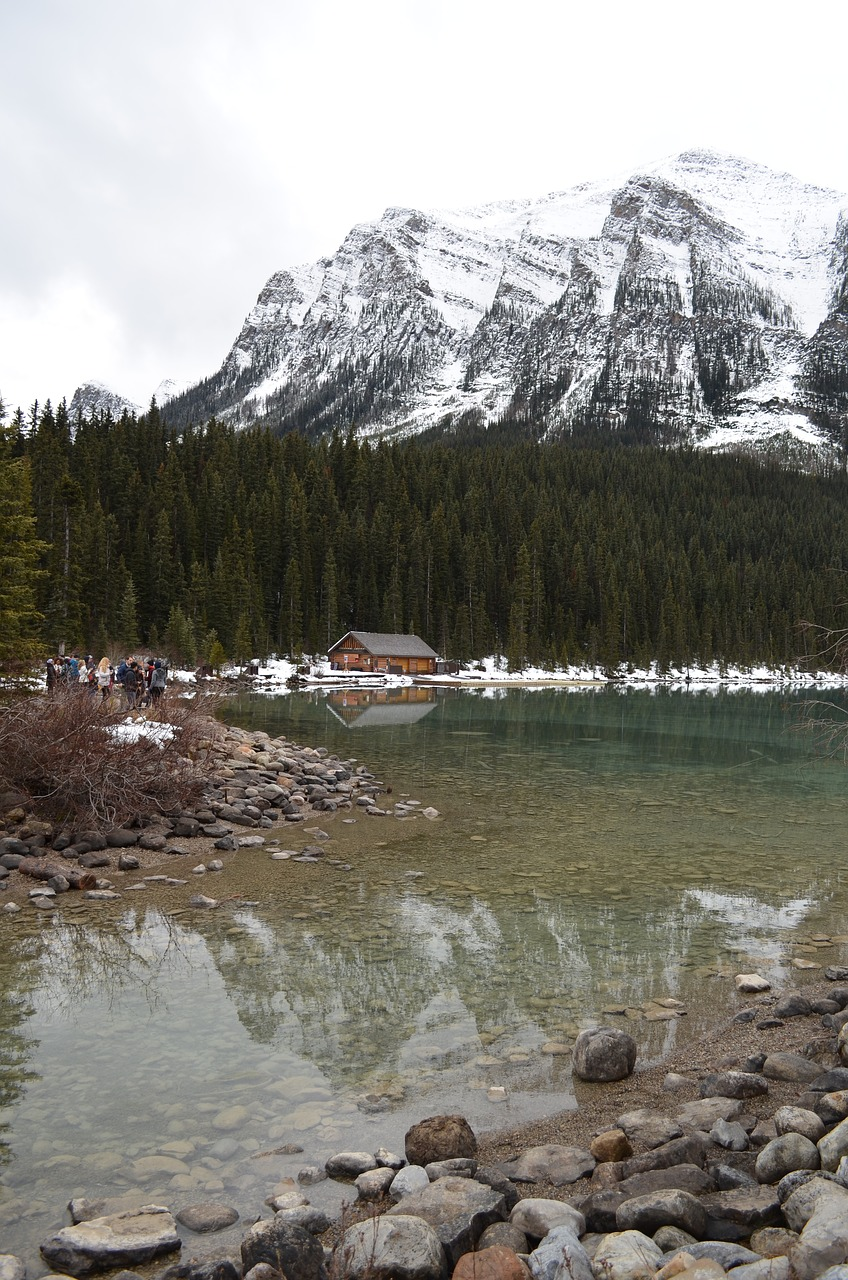 lake louise rockies rocky mountains free photo