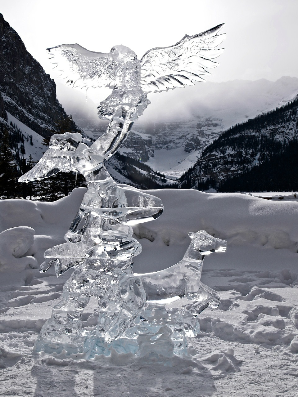 lake louise alberta canada free photo