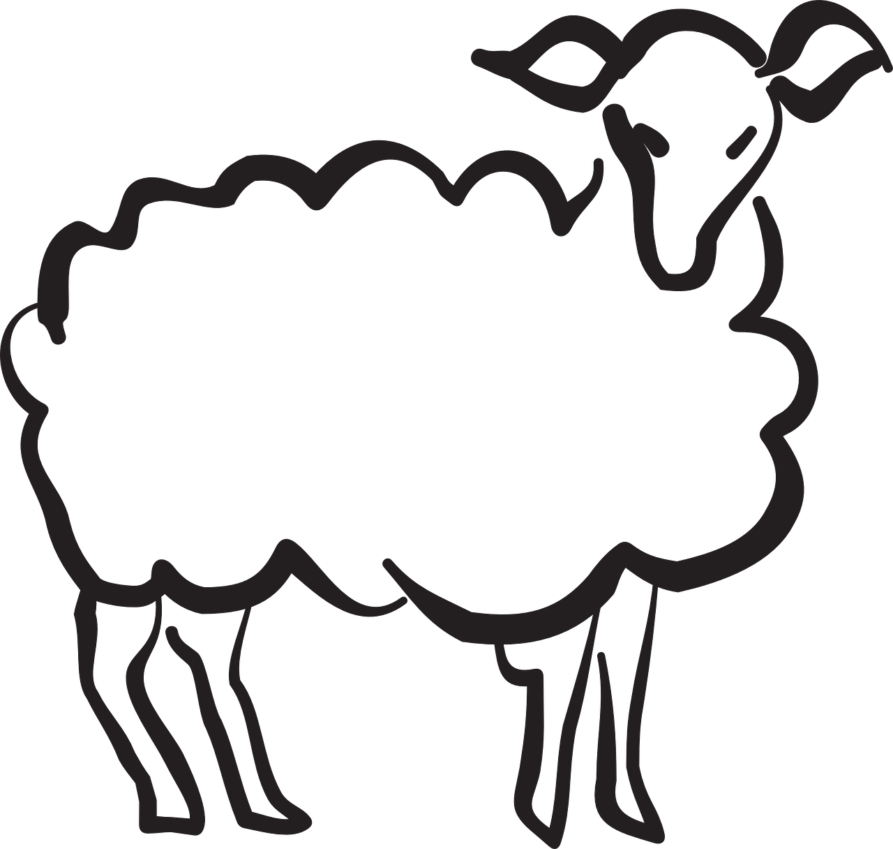 lamb stylized style free photo