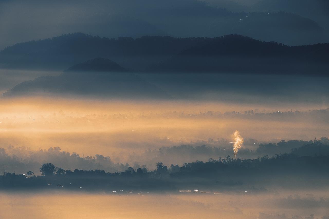 Landscape Fog Sunrise Forest Foggy Free Photo From Needpix Com