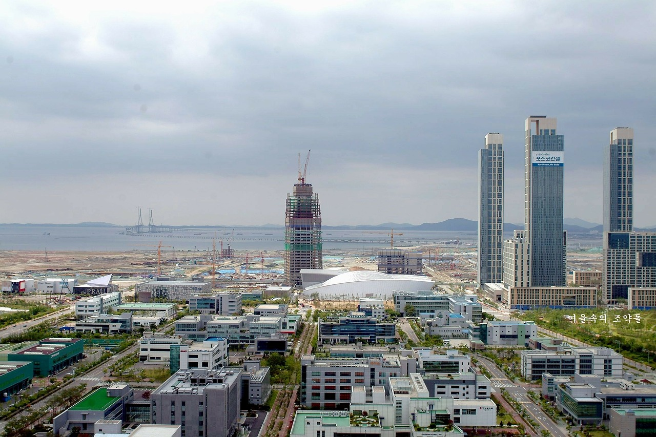 landscape songdo city free photo