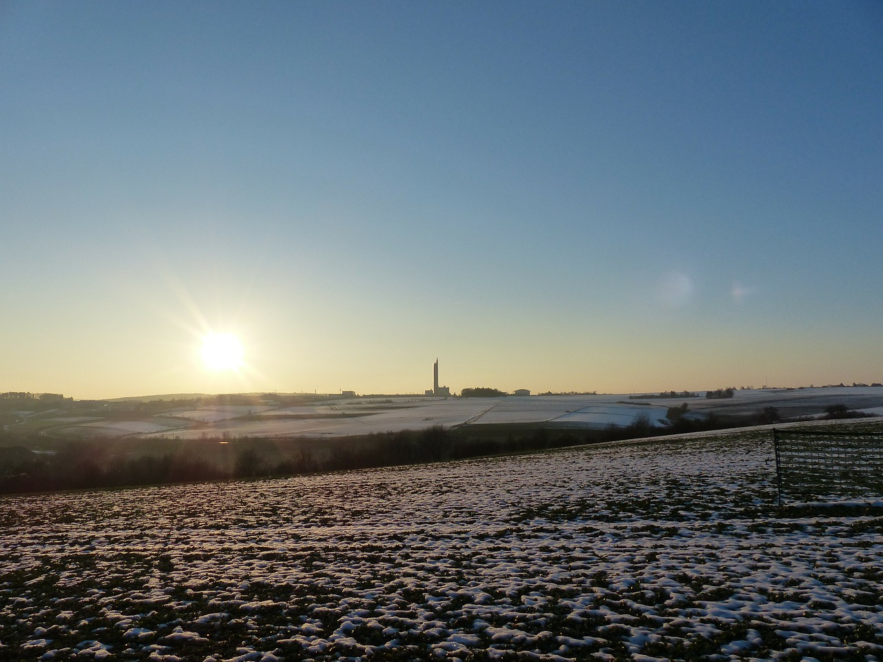 landscape wintry arable free photo