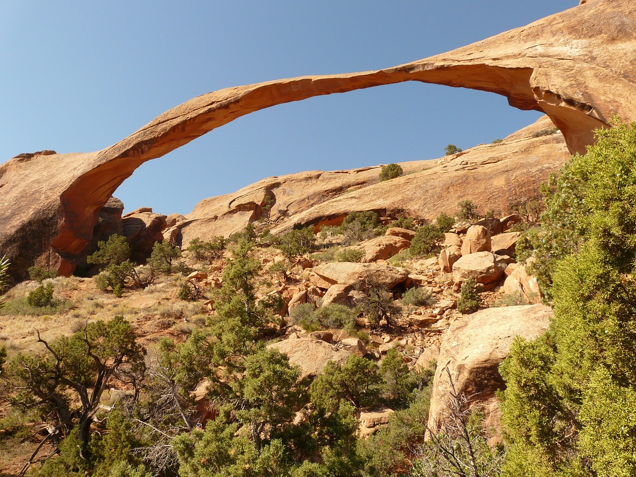 landscape arch arches national park usa free photo