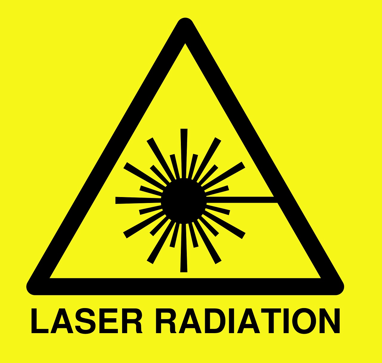 laser radiation warning free photo