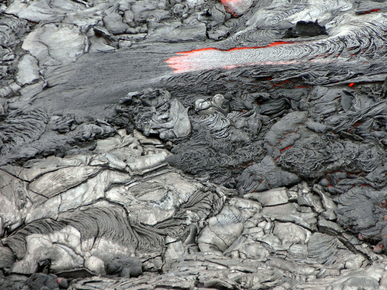 lava flow volcanic free photo