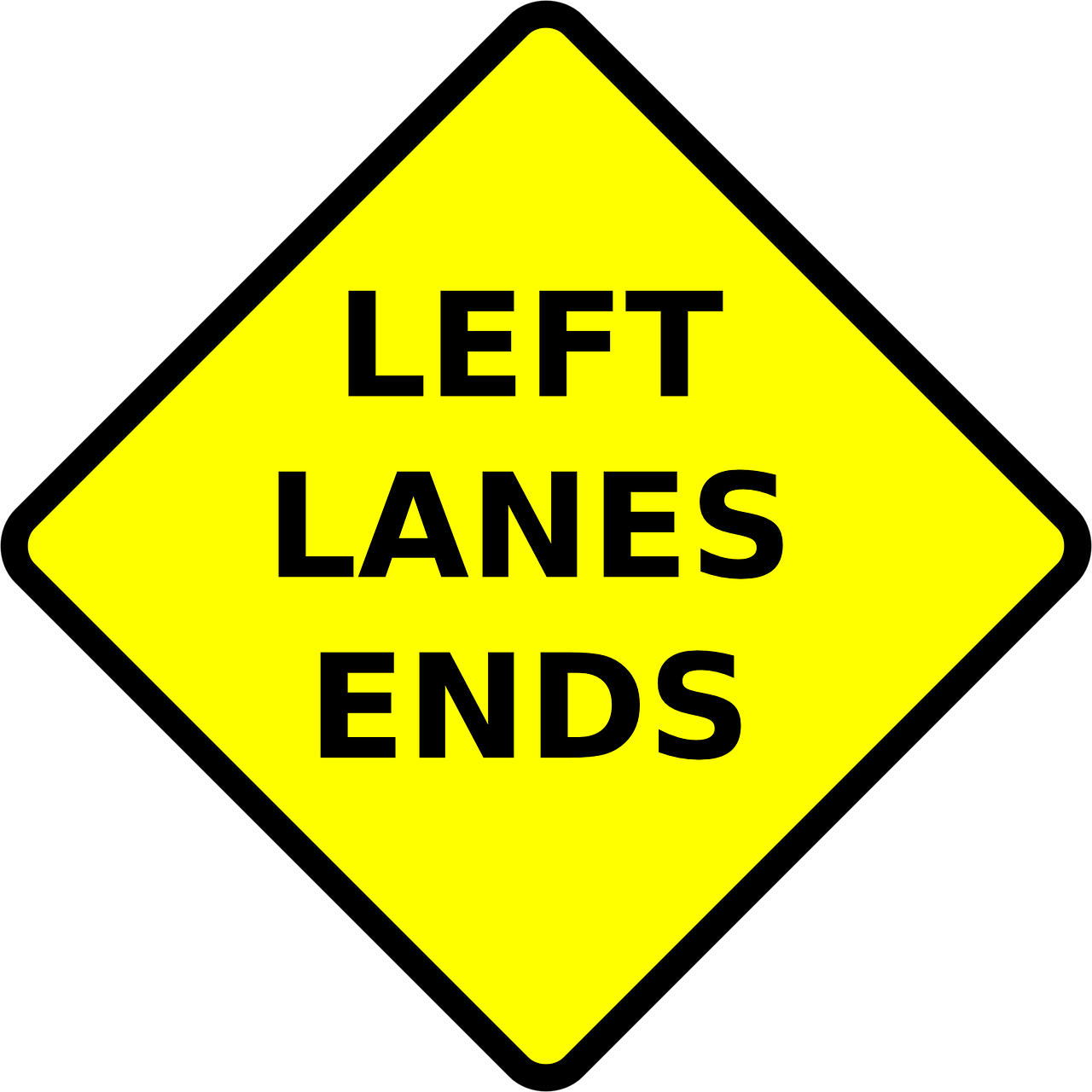 left lane ends free photo