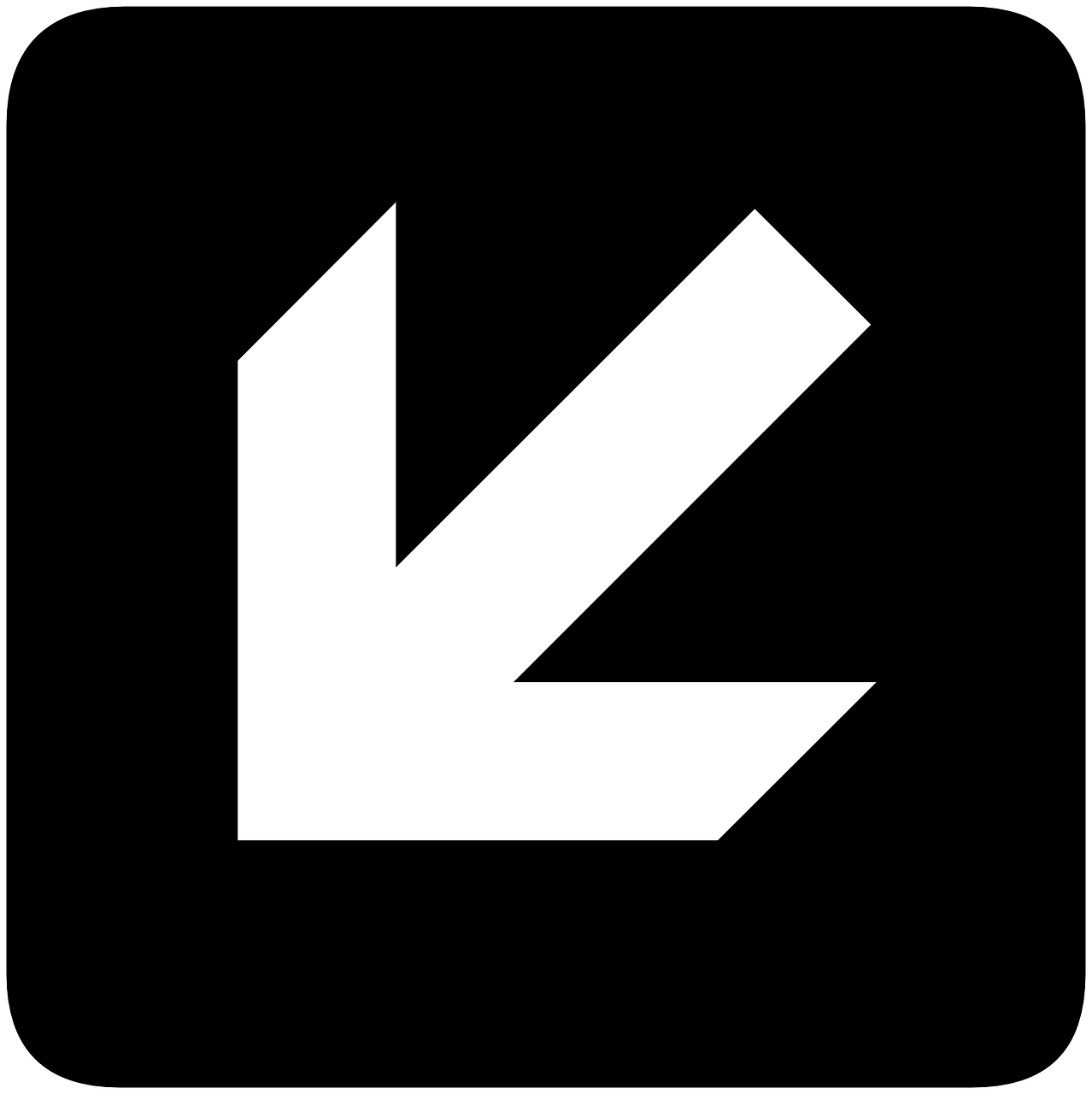 left arrow down free photo