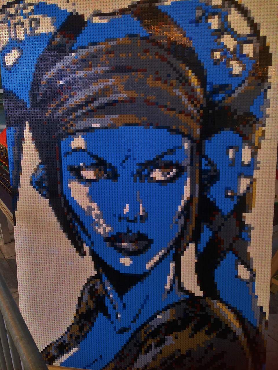 lego mosaic blue free photo