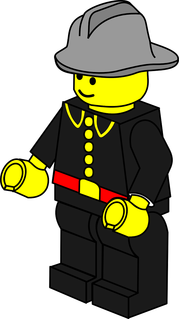 lego toy firefighter free photo