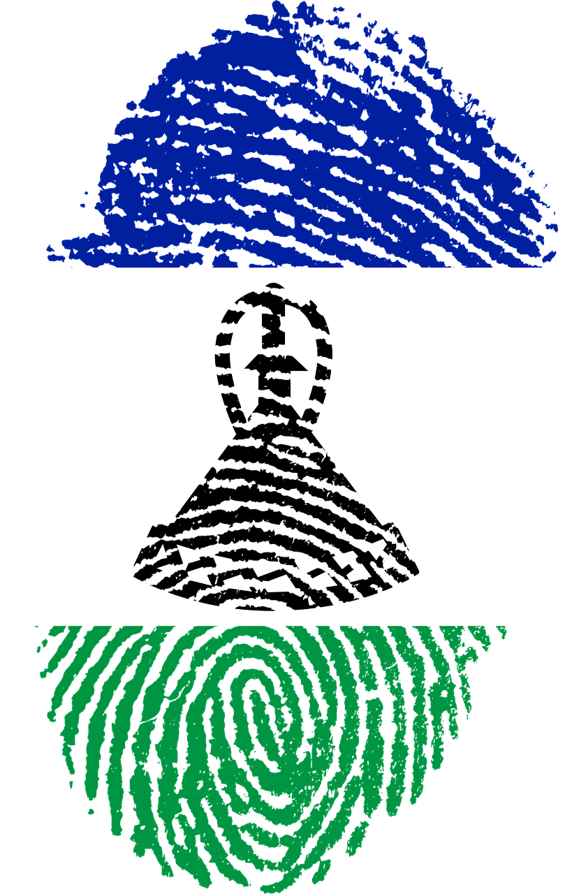 lesotho flag fingerprint free photo