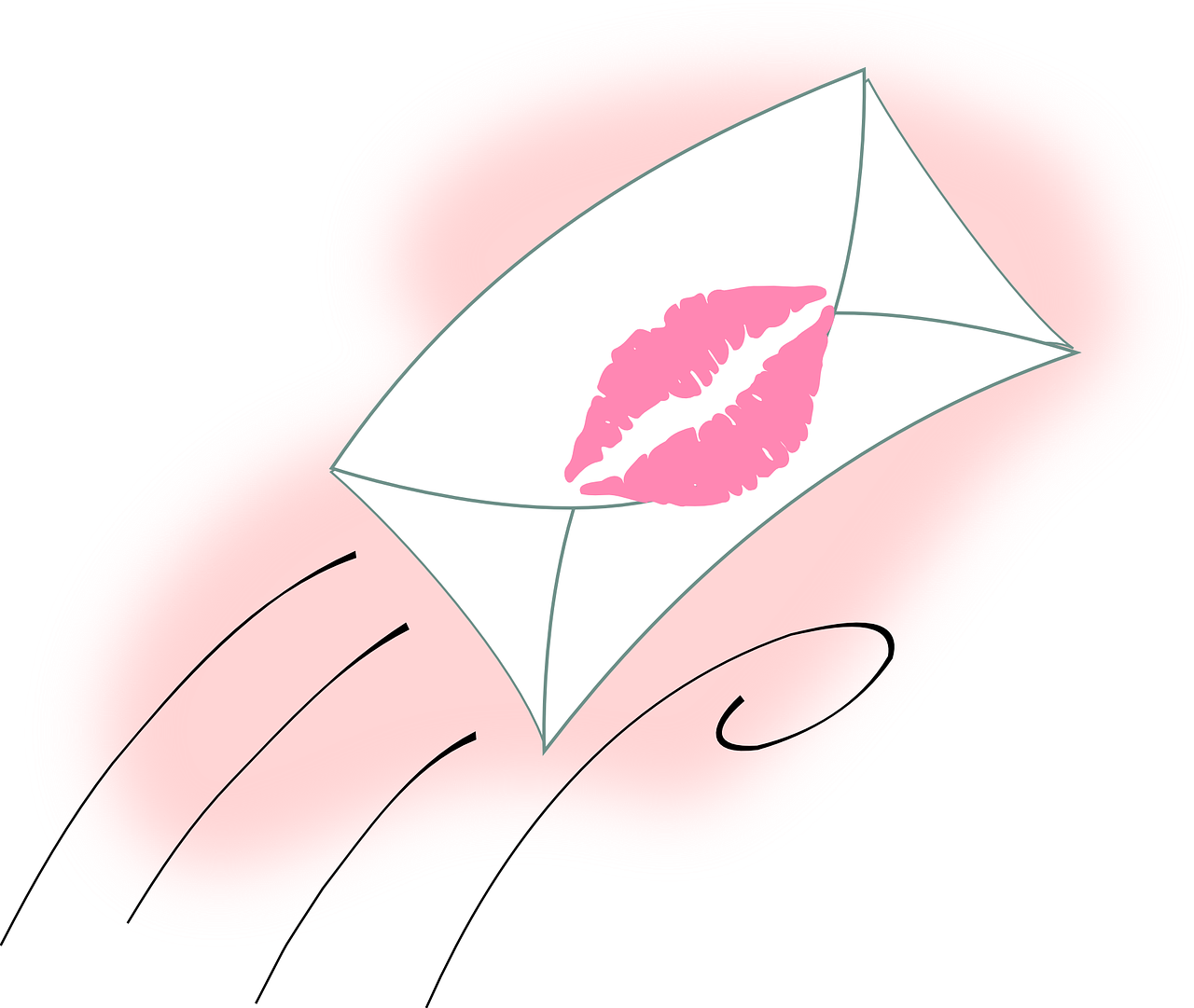 letter lips kiss free photo