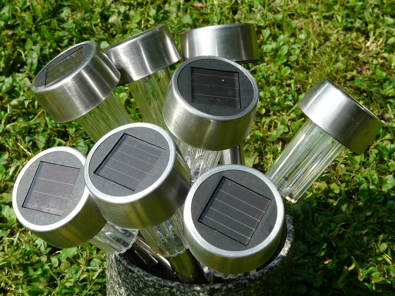 light solar cells lamps free photo