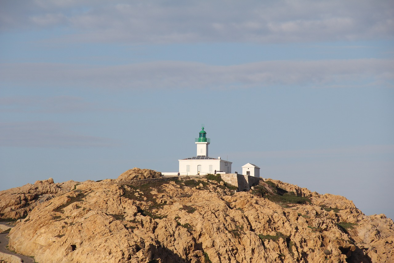 lighthouse corsican port free photo