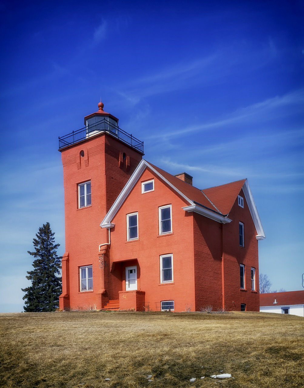 lighthouse minnesota architecture free photo