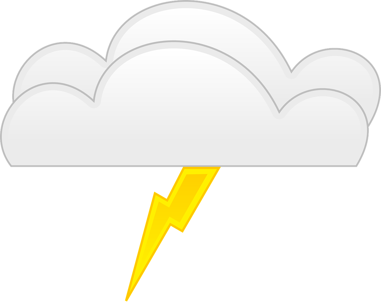 lightning bolt yellow free photo