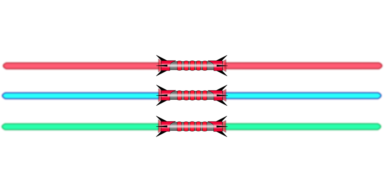 lightsaber double red free photo