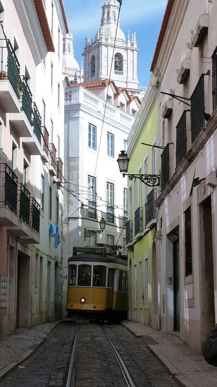 lisbon tram historically free photo