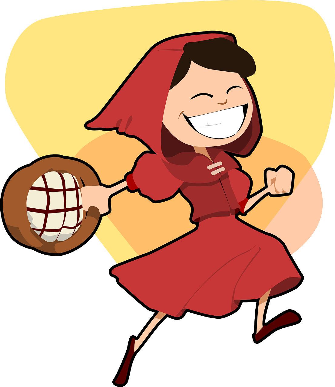 little red riding hood girl running free photo