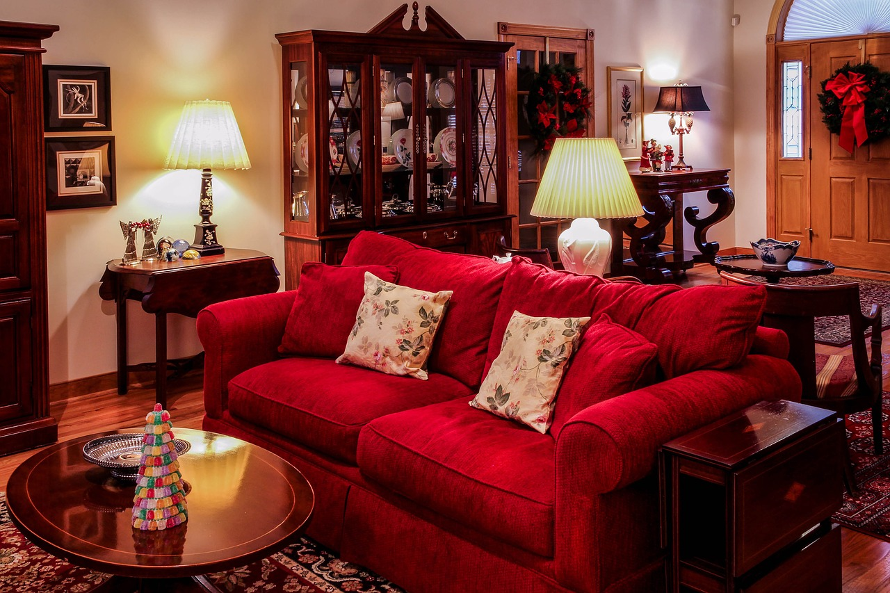 living room great room christmas time free photo