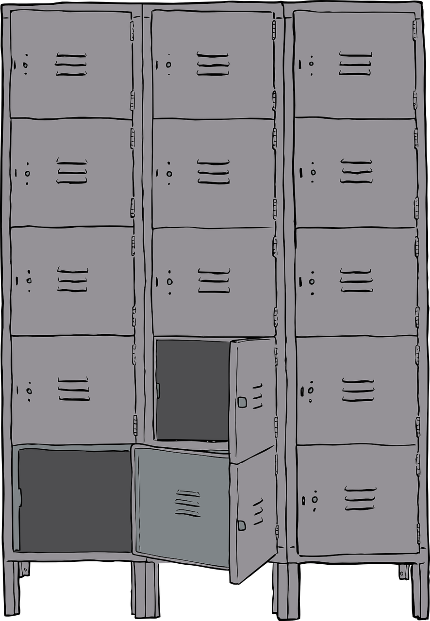 lockers metal cabinet free photo