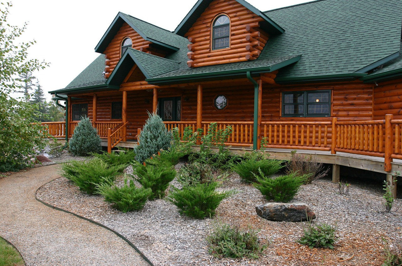log home house cabin free photo