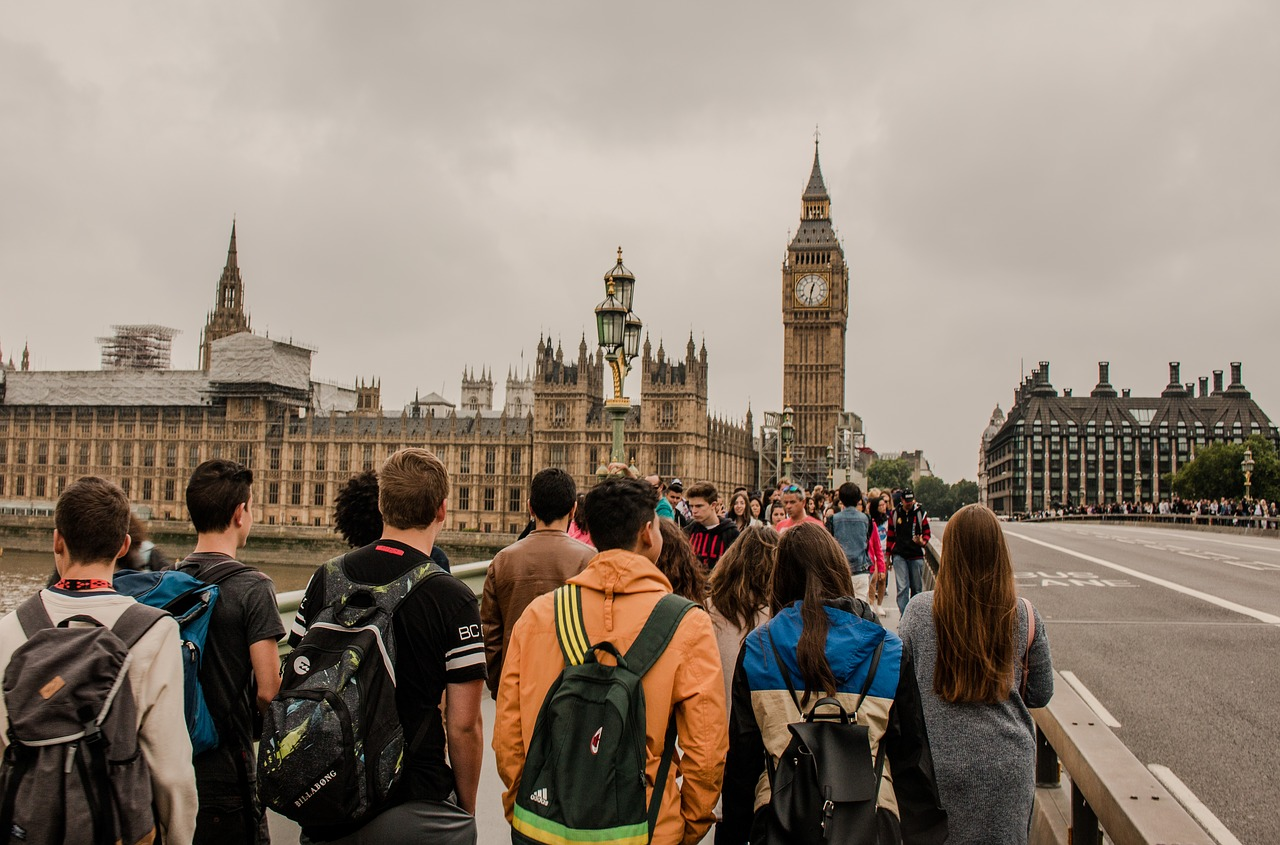 london  big ben  crowd free photo