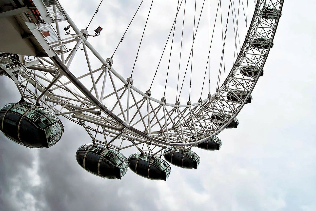 london eye skyline free photo