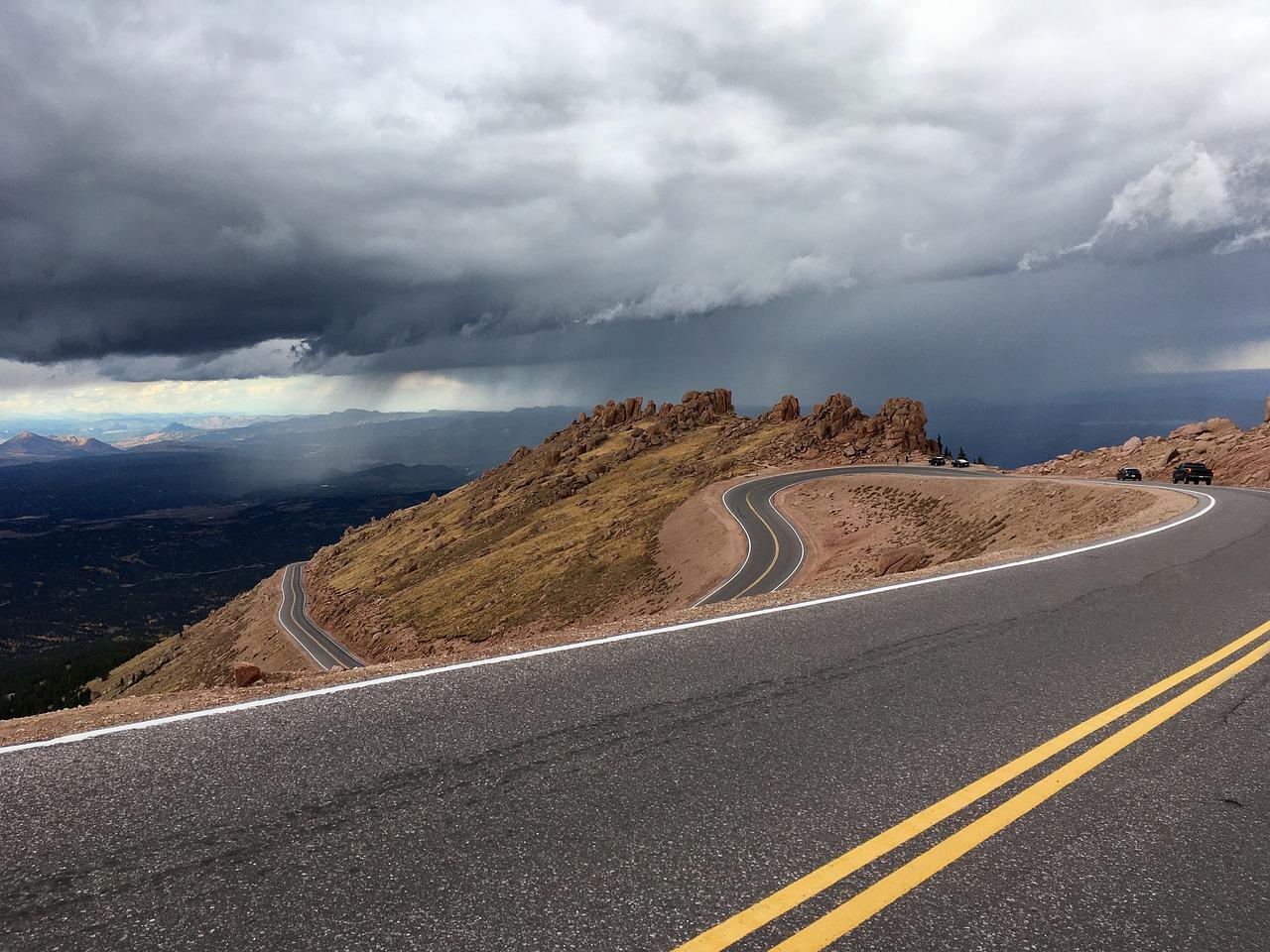 Long Road High Peak Peak High Mountain Free Image From Needpix Com