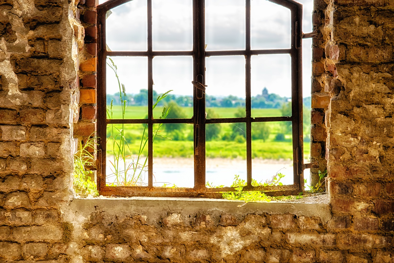 lost places window wall free photo