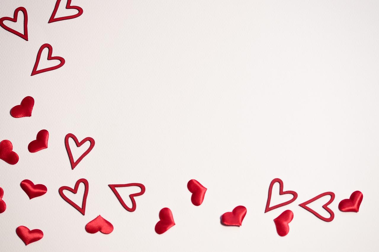 Loveheartsvalentinebackgroundwallpaper Free Image From