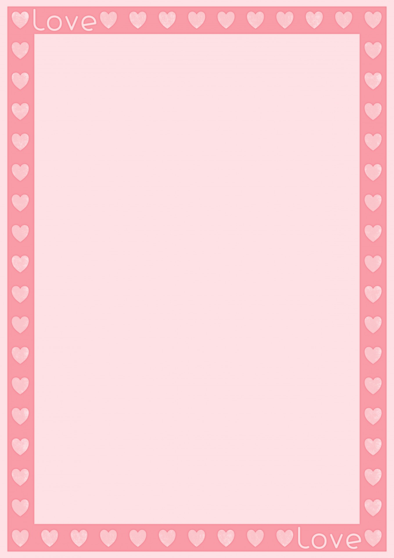 love heart border template stationery free photo from