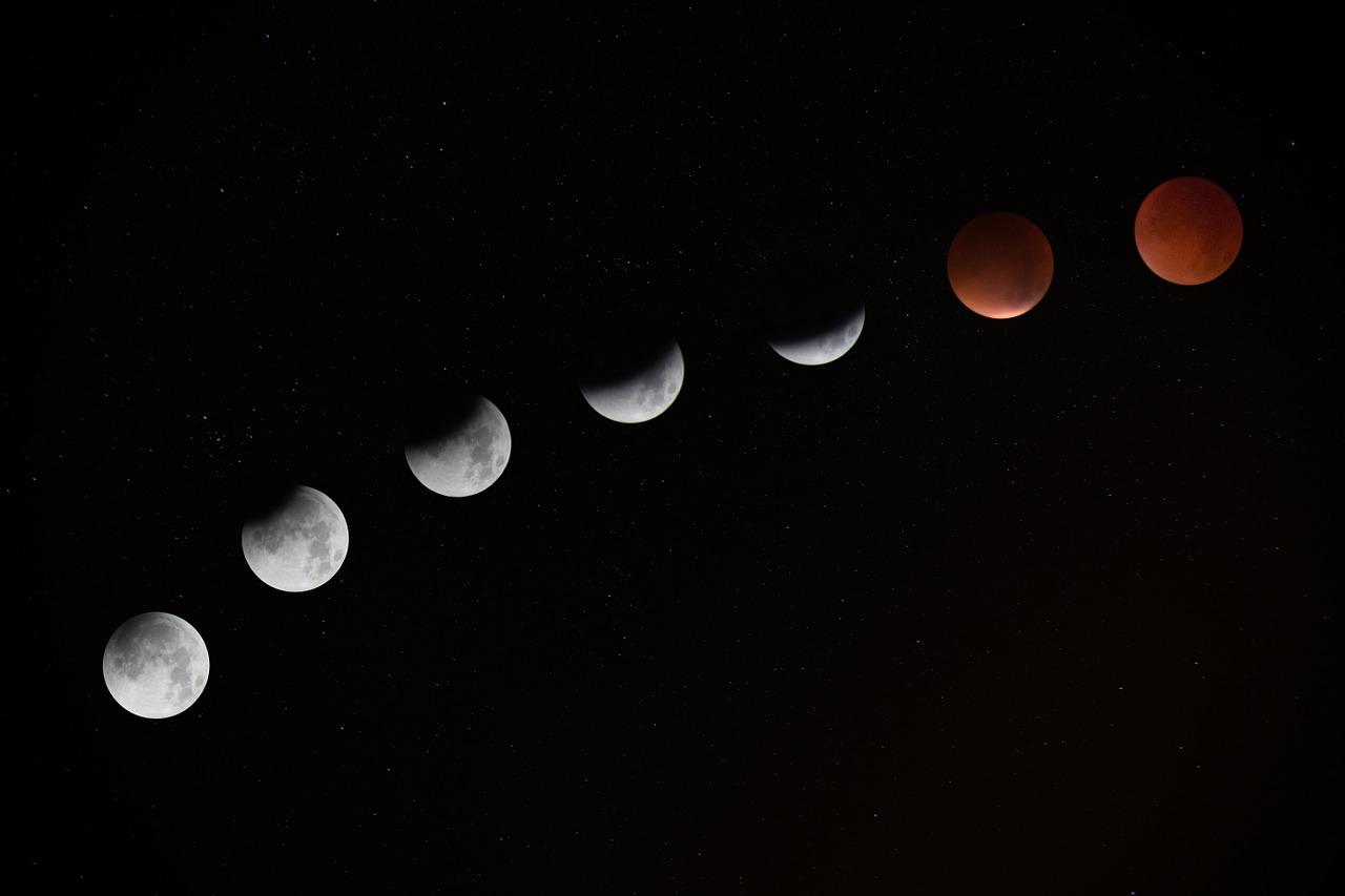 lunar eclipse blood moon cycle free photo