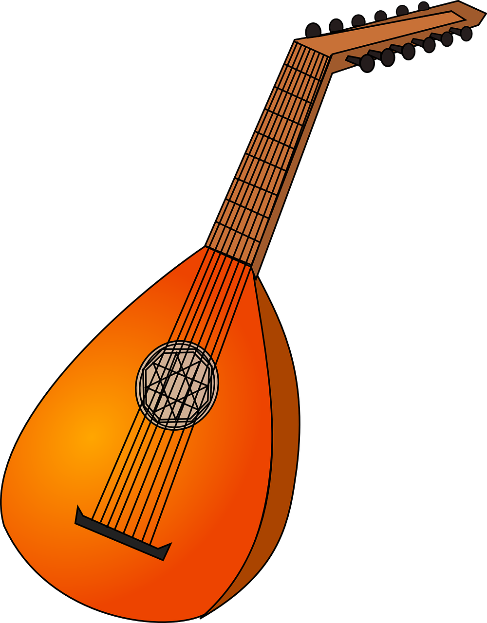 lute instrument strings free photo