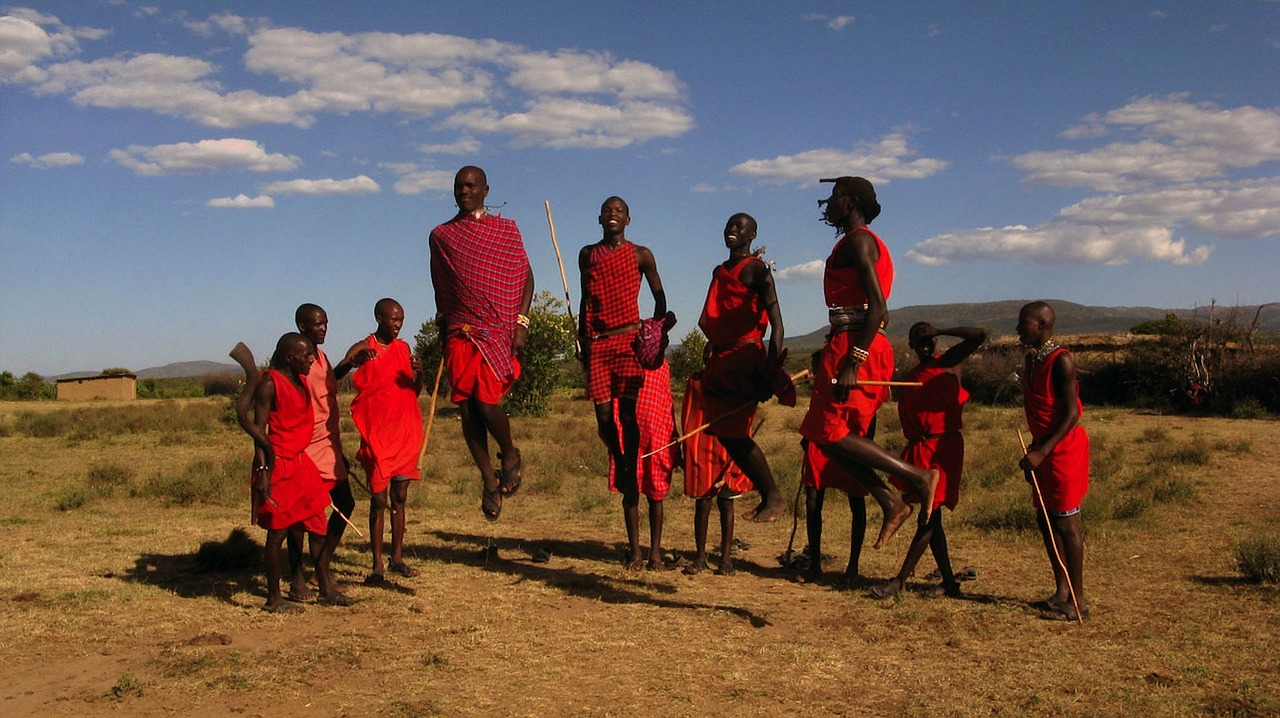 maasai tribe kenya sky free photo