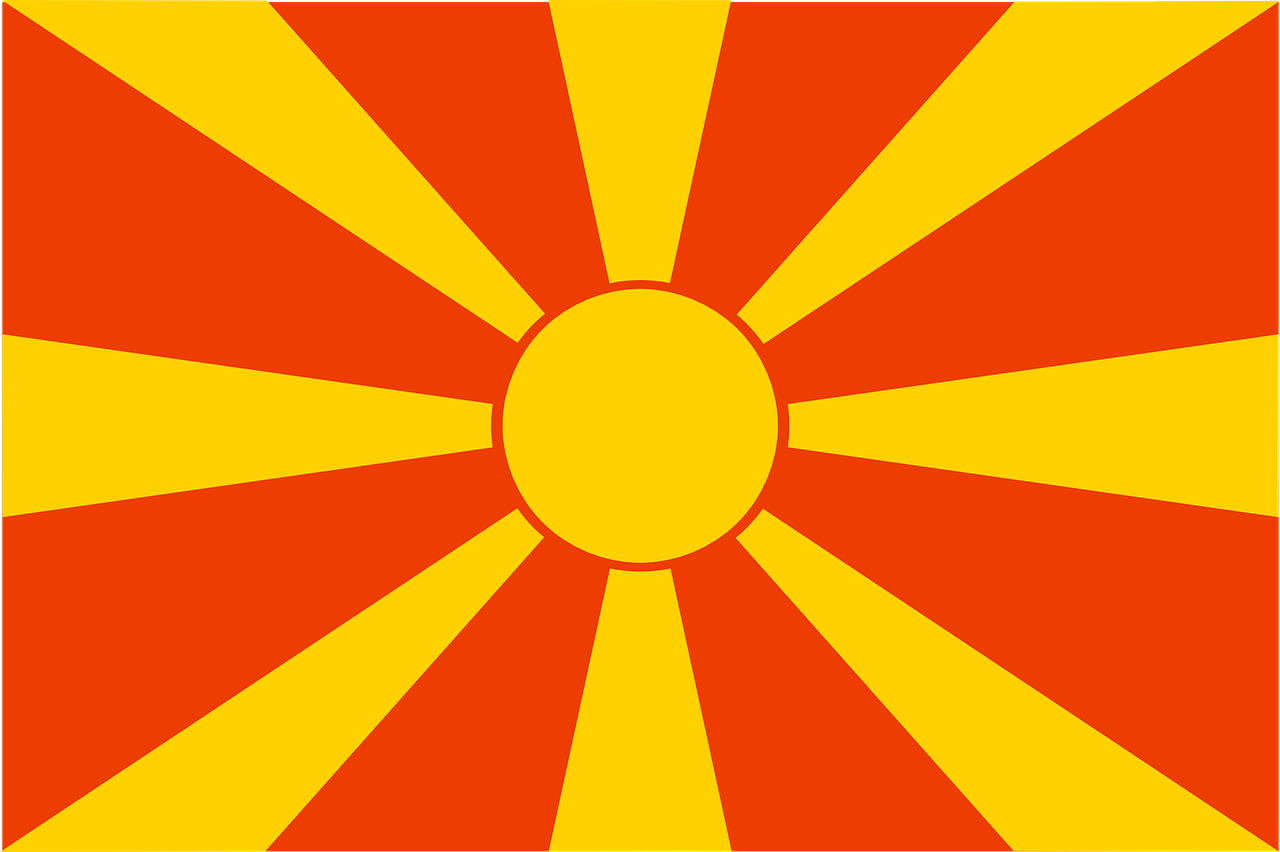 macedonia flag republic free photo