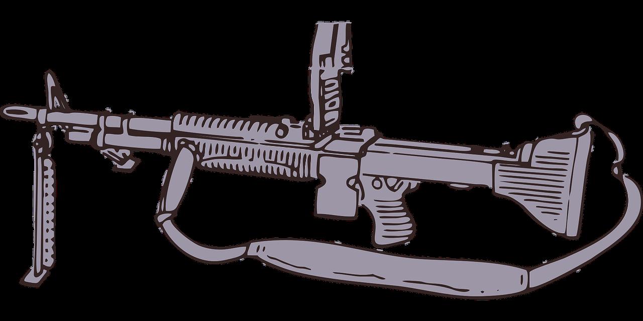 пулемет картинка для раскраски задание