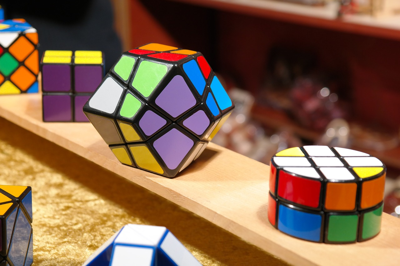 magic cube patience games puzzle free photo