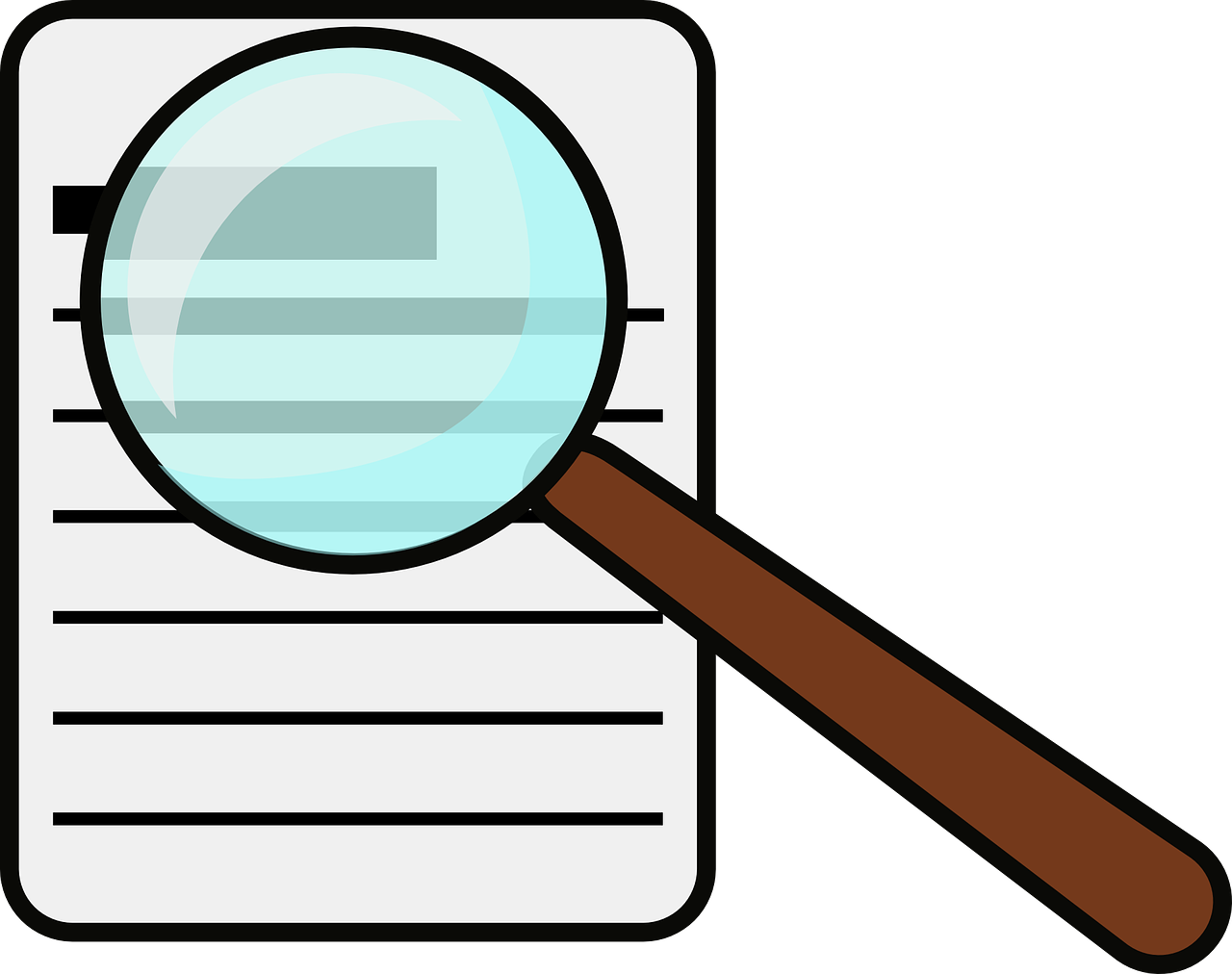 magnifying glass document free photo