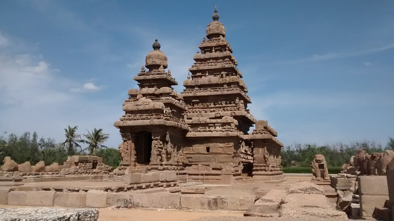 Mahabalipuram, shore temple, temple, beach, ancient - free image ...