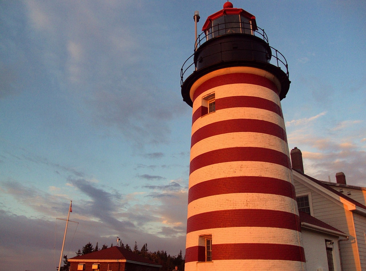 maine west quoddy lighthouse free photo