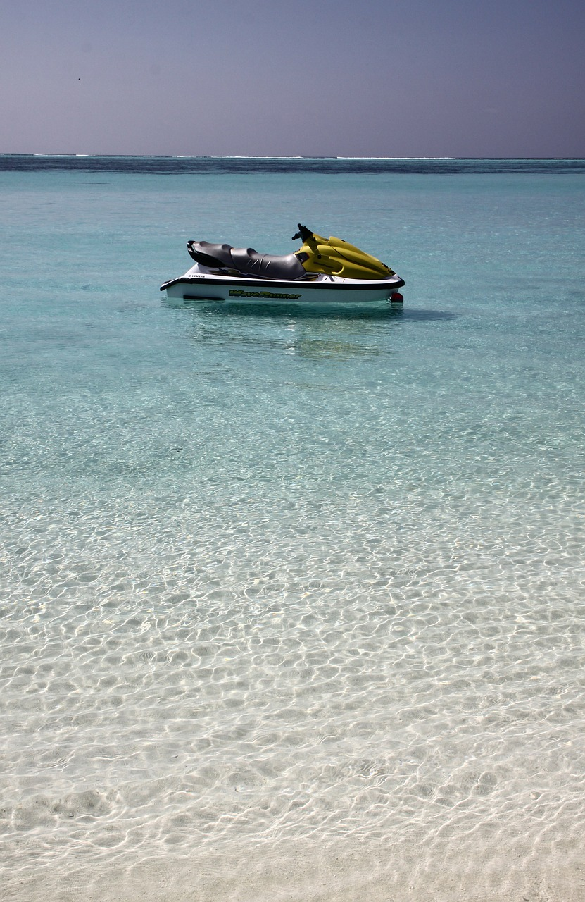 maldives water jet ski free photo