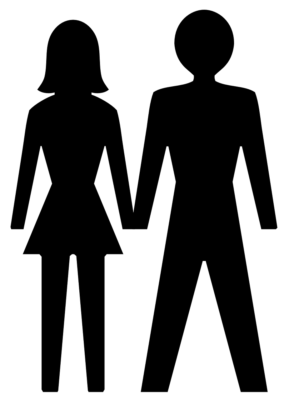 male female silhouette free photo