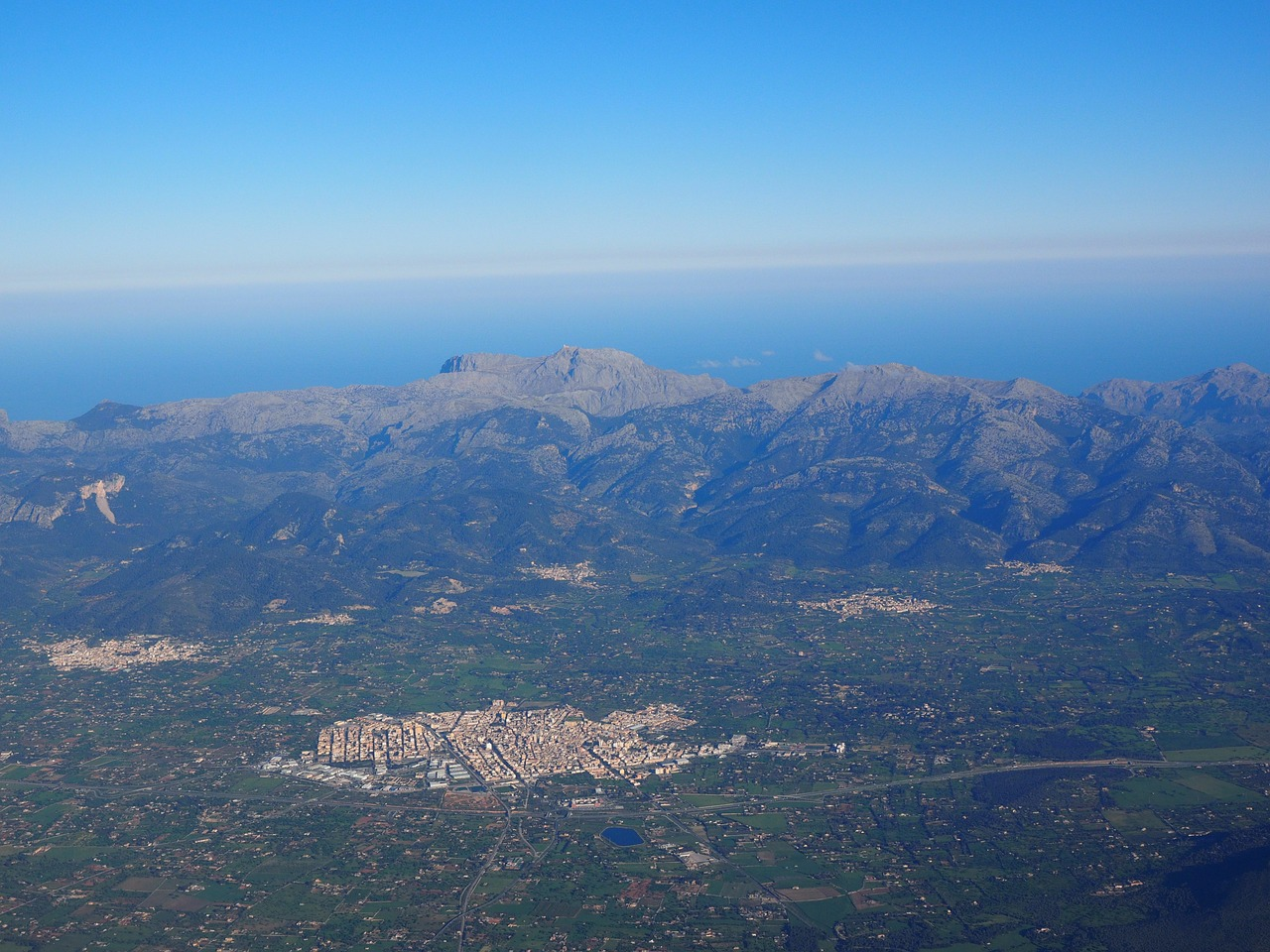 mallorca aerial view aerial photographs