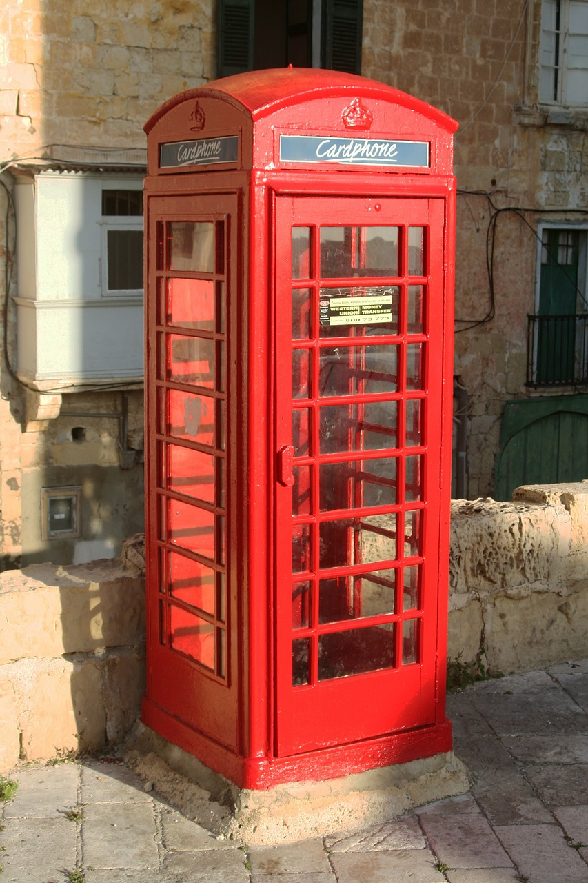 malta valetta phone booth free photo
