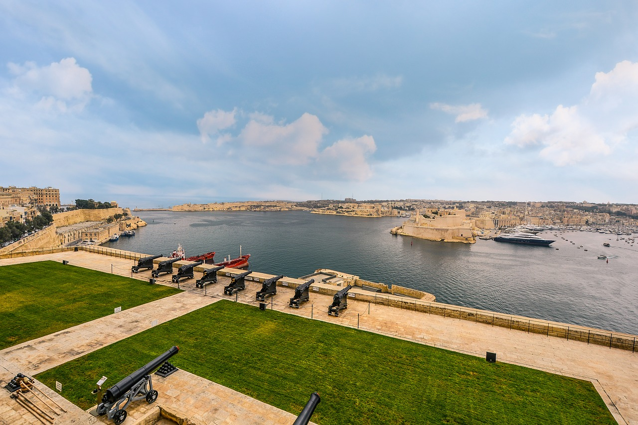 malta port harbor free photo