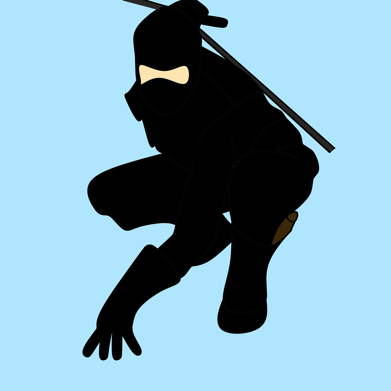 man ninja fighter free photo
