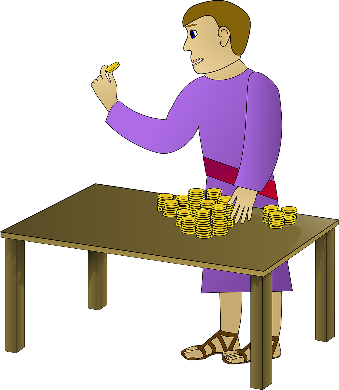 man counting money free photo